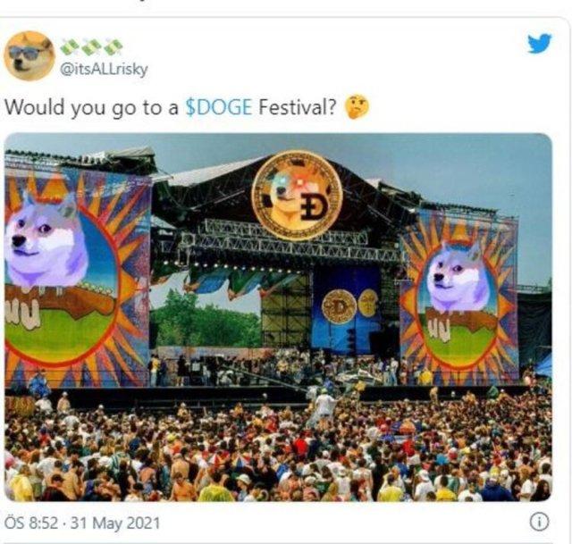 Dogecoin temalı festival 2021: Dogepalooza müzik festivali ne zaman? Elon Musk katılacak mı? #1