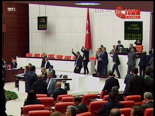 Muhalefetin Meclis'teki sevinç dolu anları