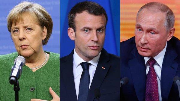 Putin, Merkel ve Macron geliyor