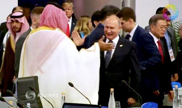 Putin high-fives Prince Salman, made Trump jealous
