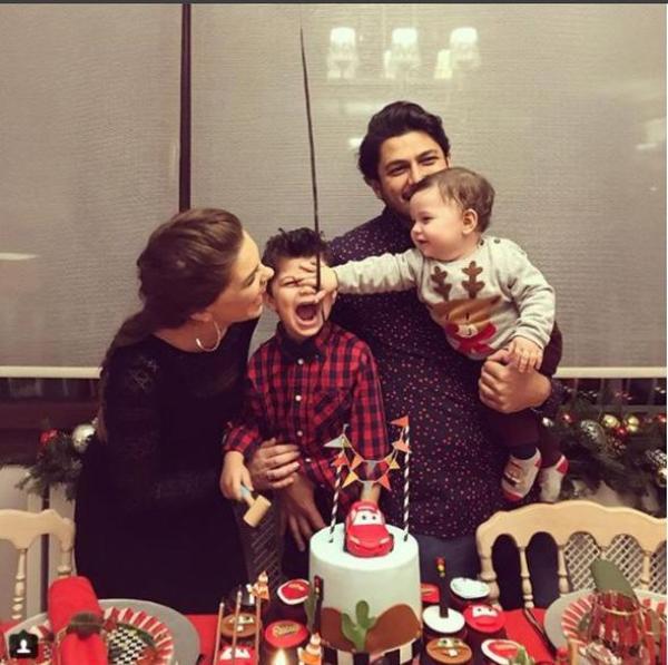 Pelin Karahan büyük oğlu için parti düzenledi