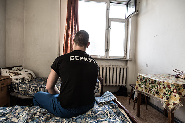 """Wounded soldier special forces of Ukraine """"Berkut"""" in hospital"""