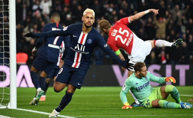 Video Neymar Opens Up The Scoring Against Monaco Psg Talk
