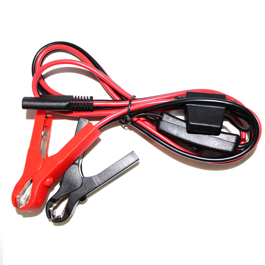 small resolution of 12v 24v car battery clips to sae cable with fuse box booster battery12v 24v car battery