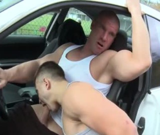 Muscle Twinks Outdoor Car Pound