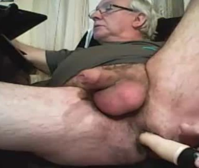 Old Man Play With A Sex Toy And Ball Sex Cream On Web Camera