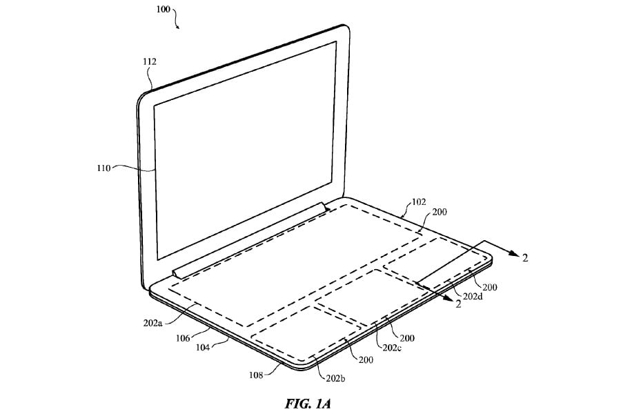 Apple Patent Reveals One Huge Touch Surface for Notebooks