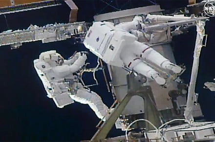 ISS astronauts complete spacewalk to upgrade station's solar arrays