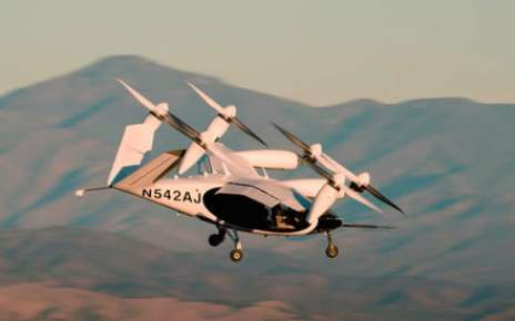 Watch first footage of Joby's all-electric VTOL aircraft in flight