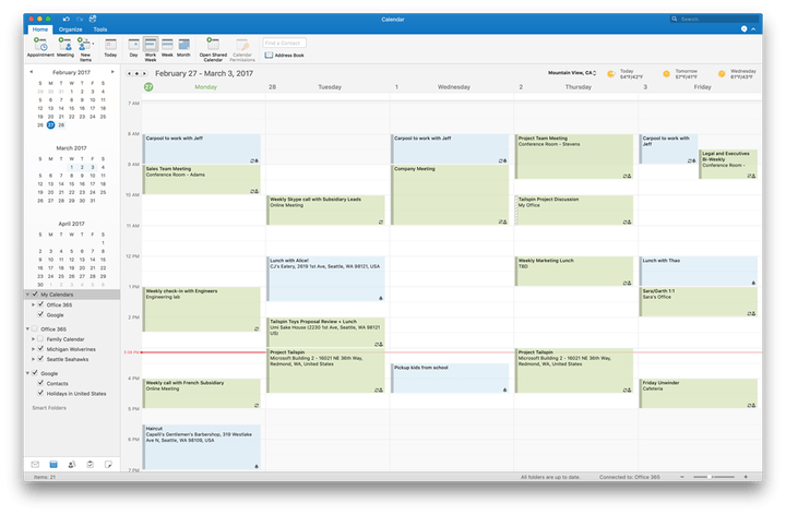 microsoft aggiunge i contatti del calendario di google support office 2016 per mac outlook e 1