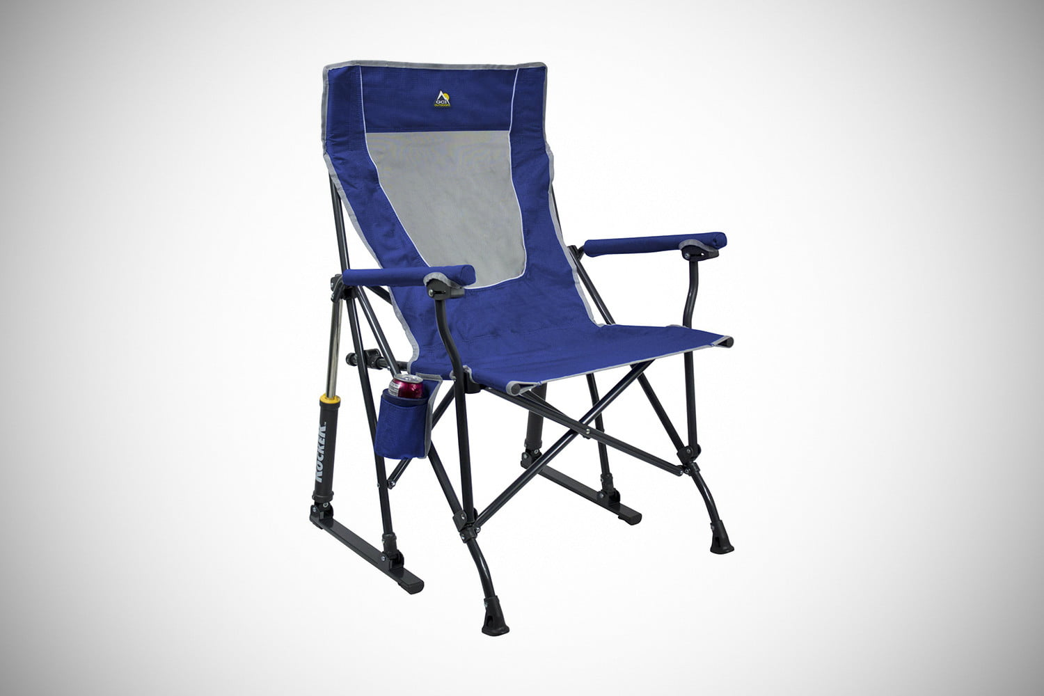 folding camp rocking chair hanging with footrest the best camping chairs