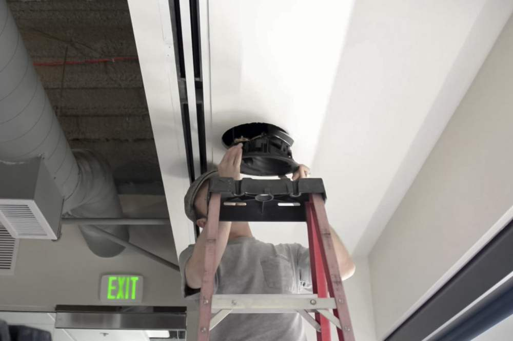 medium resolution of inserting into ceiling install dolby atmos ceiling speakers