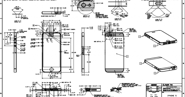 Apple iPhone 5 blueprint, an in-depth look into iPhone 5