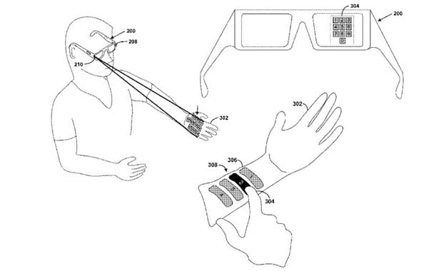 Project Glass patent shows laser projected virtual control