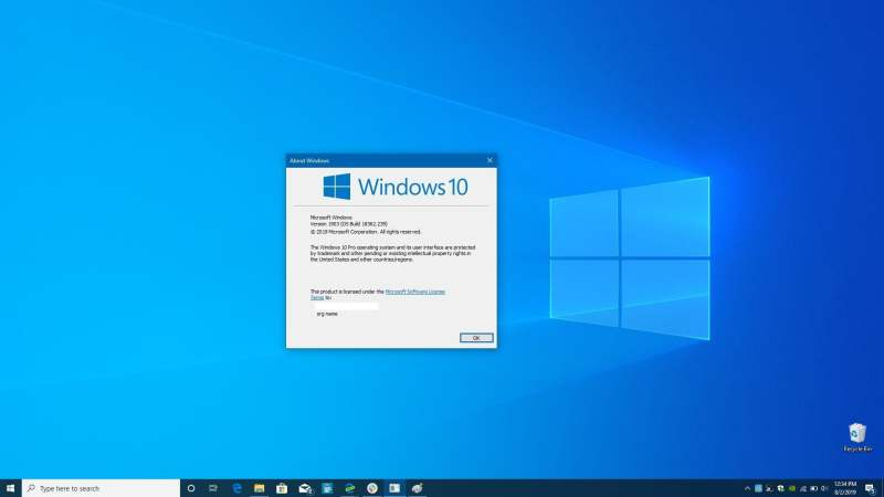 Cómo actualizar desde Windows 10 Home Pro Winver2
