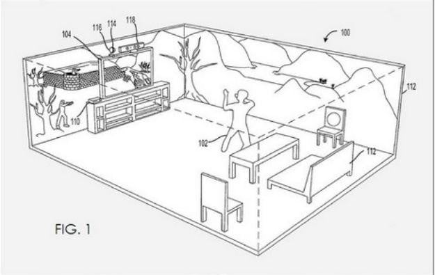 Xbox 720 patent describes tech that projects a game onto