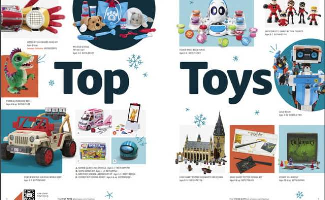 Amazon S Printed Holiday Toy Catalog Ships This Month