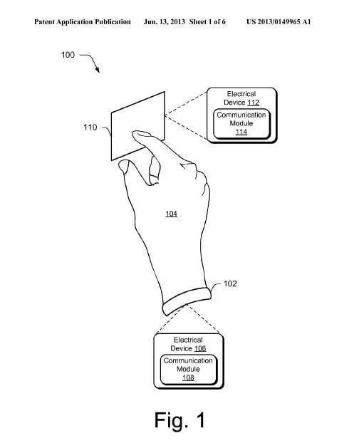 Microsoft patenting a wearable device that transfers data
