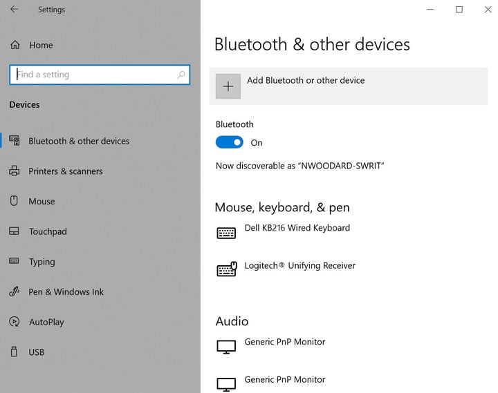Windows Bluetooth e altri dispositivi