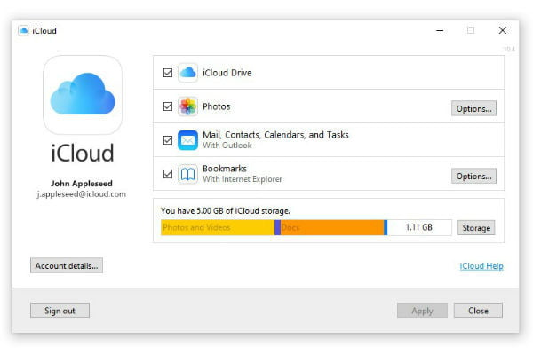 苹果icloud for windows on microsoft store windows2