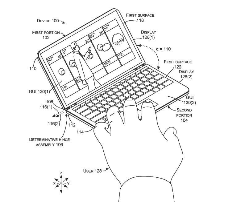Microsoft Patent Hints at Mobile Device With Hardware
