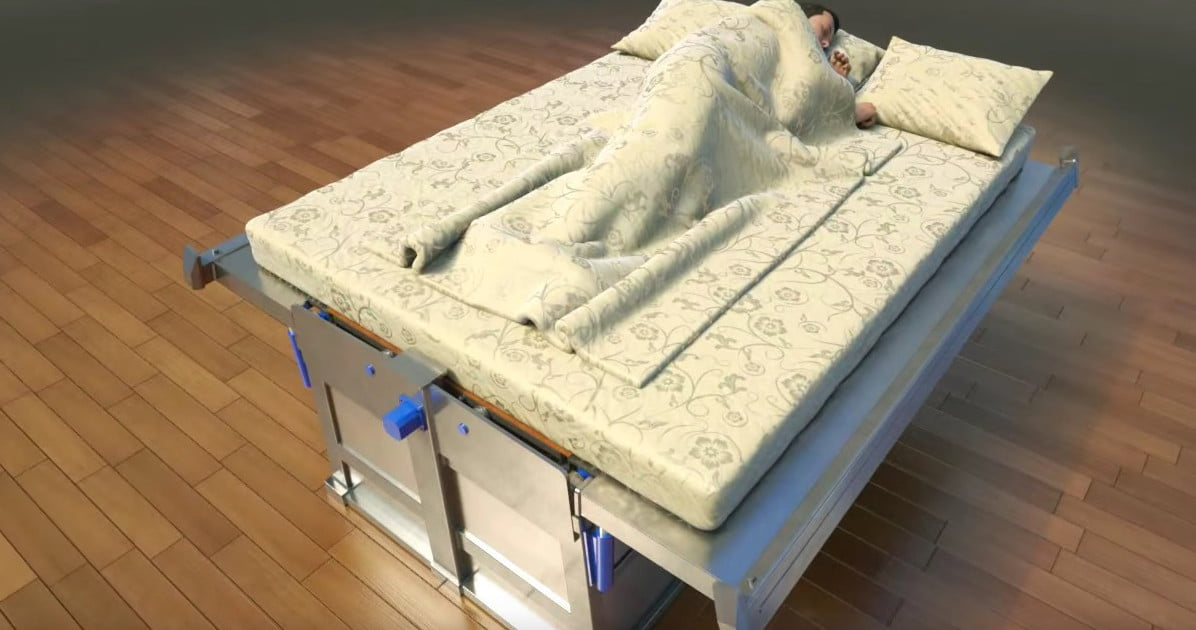 This earthquakeproof bed is even more terrifying than an