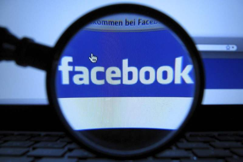 facebook-under-a-lente d'ingrandimento