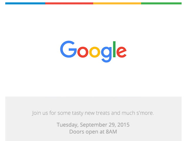 "Google promising ""new treats†on September 29"