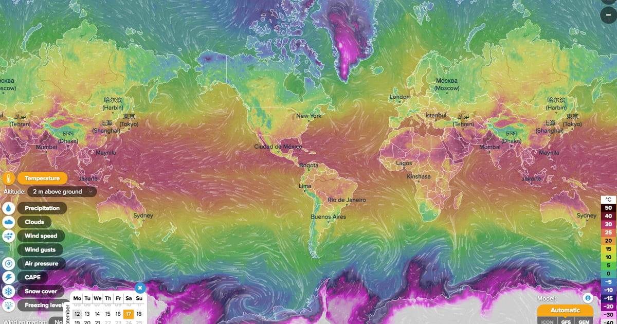 This stunning interactive map shows the worlds weather