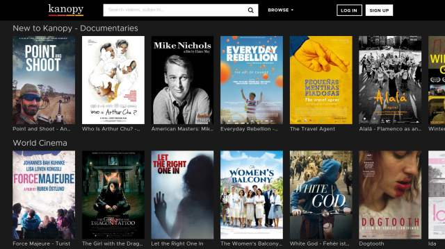 onde assistir filmes gratuitos on-line kanopy screenshot