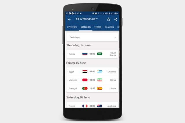 best apps for 2018 world cup fifa