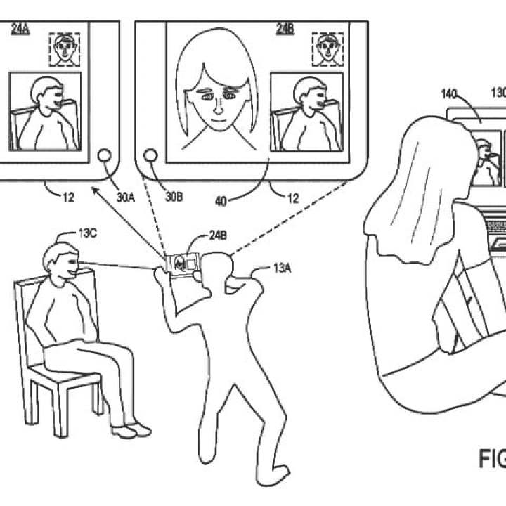 microsoft patents two screen device for three way video calls patent 2