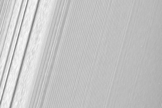 cassini closest views of saturns rings pia  hires