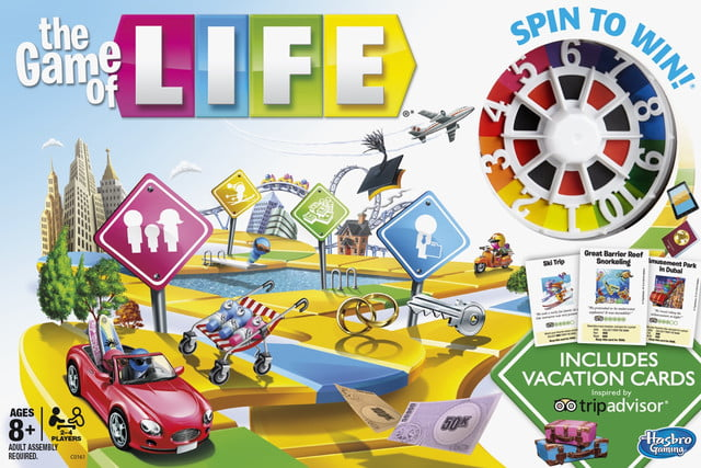 Hasbro TripAdvisor update the Game of Life with vacation