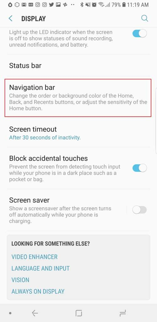 small resolution of samsung galaxy note 9 settings navigation buttons