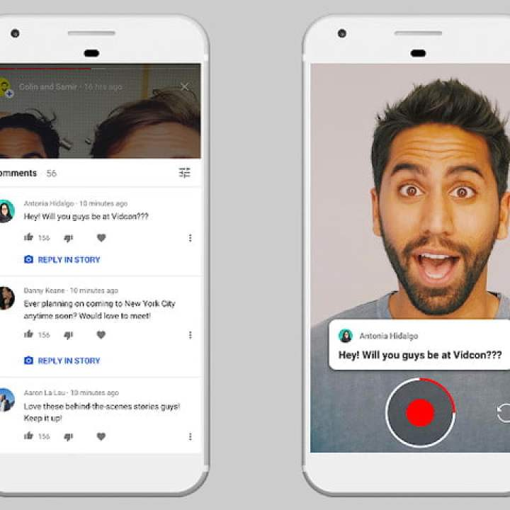 le storie su YouTube espandono 10k due telefoni youtubestories