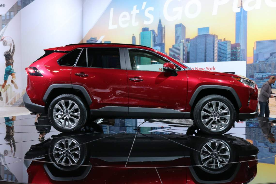 2019 toyota rav4 arrives in new york with more style, new tech