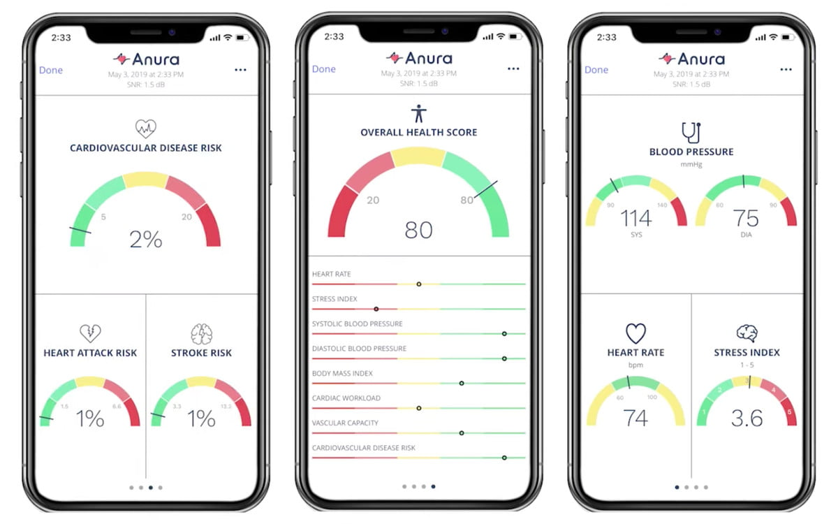Kang Lee's Anura health app screenshots