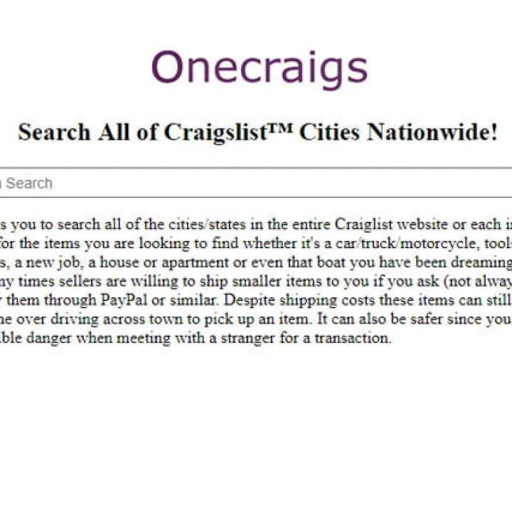 Search All Of Craigslist Best Methods 2021 Take A Look Ever since craigslist got rid of the personals section, there's been an incredible void in my life. search all of craigslist best methods