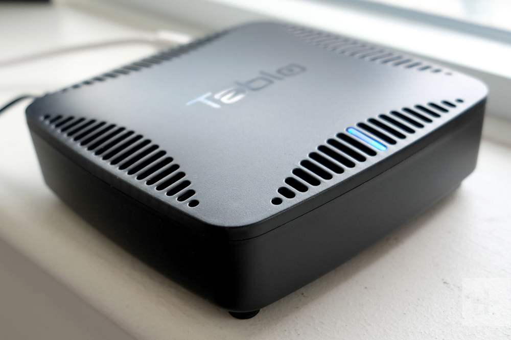medium resolution of nuvyyo tablo dual ota dvr angled to the right