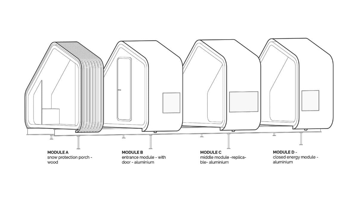These Modular Mountain Shelters Keep Hikers Safe During