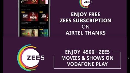 ZEE5 free subscription icdreams