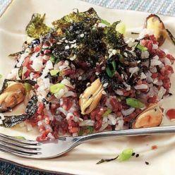Рис с водорослями нори