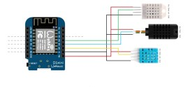 Read Multiple DHT11 Temperature Sensor with single Wemos