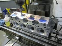 Port block machining