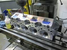 Port block machining