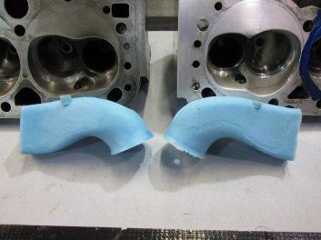 Cylinder head development - port molds