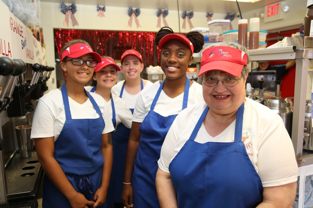 The Team of Ice Cream Delight of Delaware