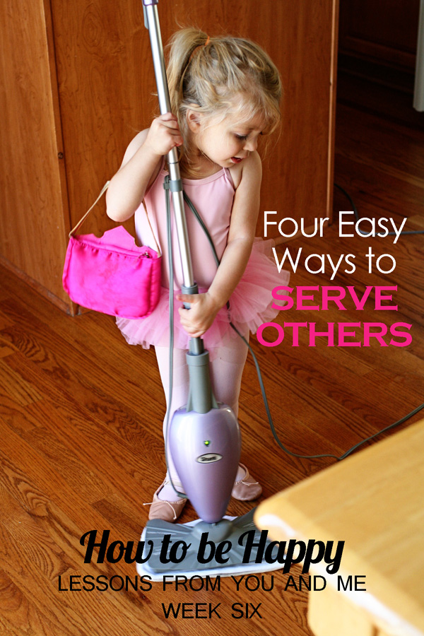 Happiness isn't something that just happens--it has to be created. One way to increase your happiness is through service to others. When we serve, we often forget our own troubles. This article lists four practical, simple ways to serve that almost everyone can do. What could you do to serve?