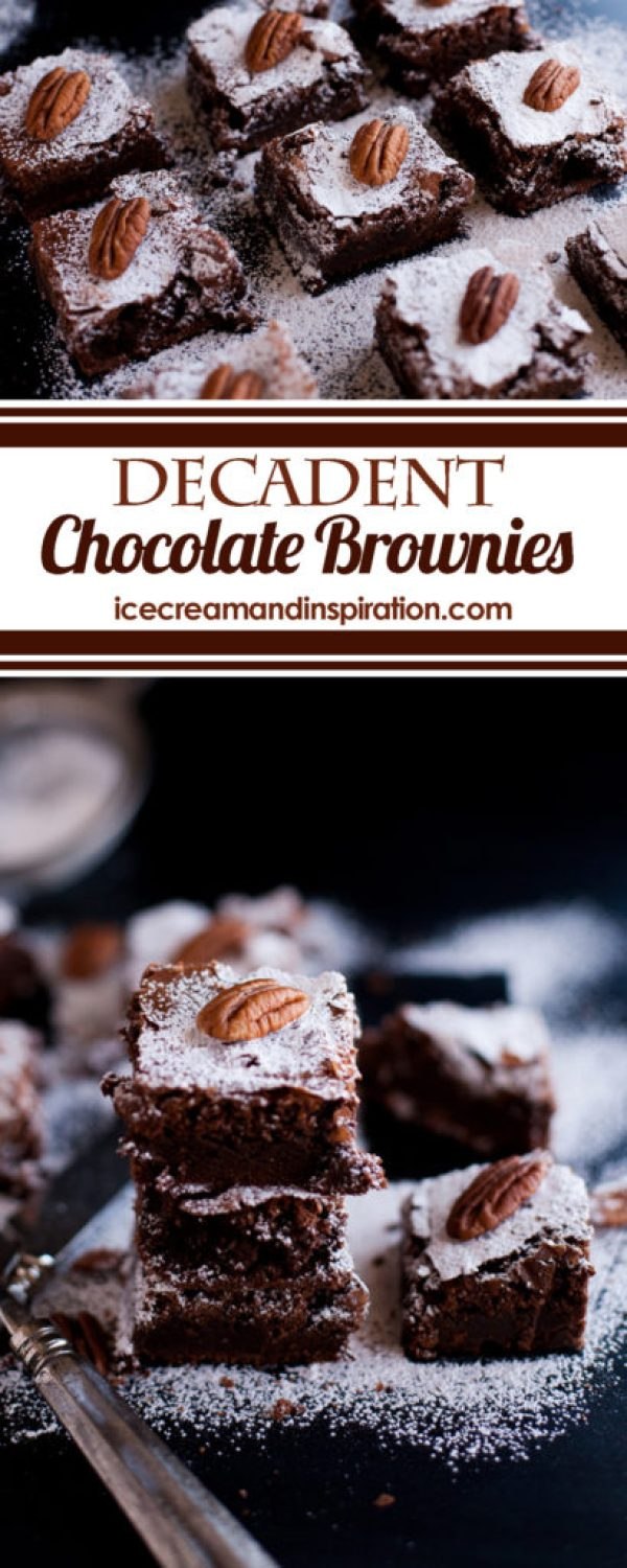 What do you get when you put five eggs in brownies? Only the most delicious, decadent chocolate brownies of all time! But what else makes these brownies so amazing? Read the recipe to find out!